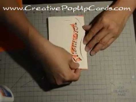 Thank You Pop Up Card Ribbon Tutorial Thank You Pop Up Card Template