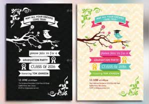 7 graduation party invitations free editable psd ai