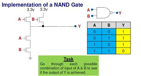 transistor nand gate works transistors implementation of nand gate electrical engineering stack exchange