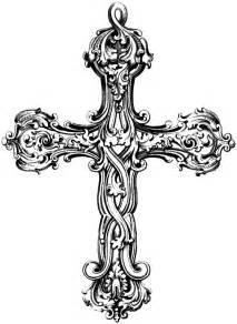 vintage cross clipart