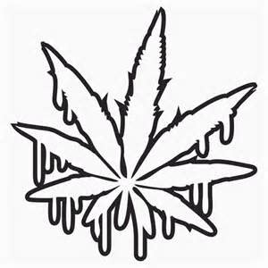 weed leaf coloring pages clipart best