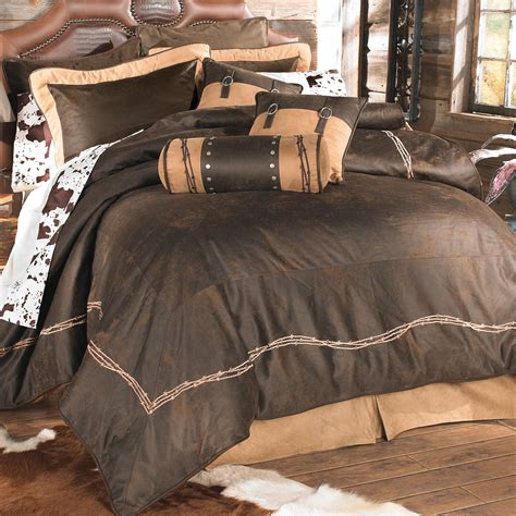 western bedding king size chocolate barbed wire bed set
