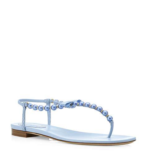 rene caovilla pearl sandals rene caovilla pearl sandals in blue pearl lyst