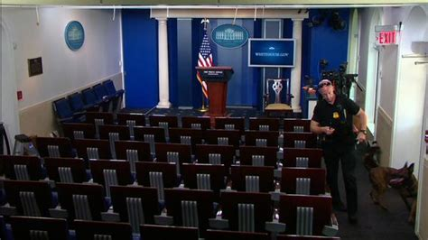 white house press room bomb scare clears out the white house press room