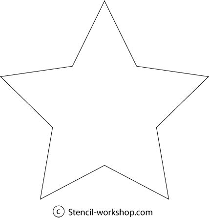 star shaped stencil cake ideas and designs