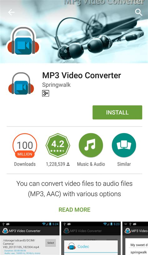 convert to mp3 android how to convert mp4 to audio mp3 on android tactig