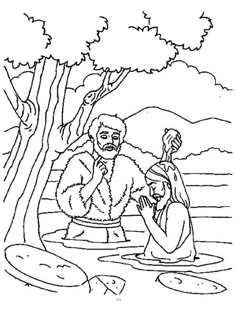 coloring page of john baptizing jesus depiction of jesus baptism coloring pages best place to
