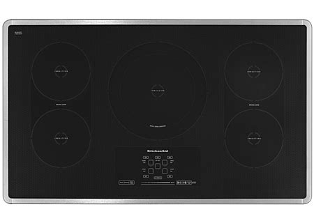 kitchenaid 36 electric induction cooktop kicu569x kitchenaid 36 quot stainless induction cooktop kicu569xss