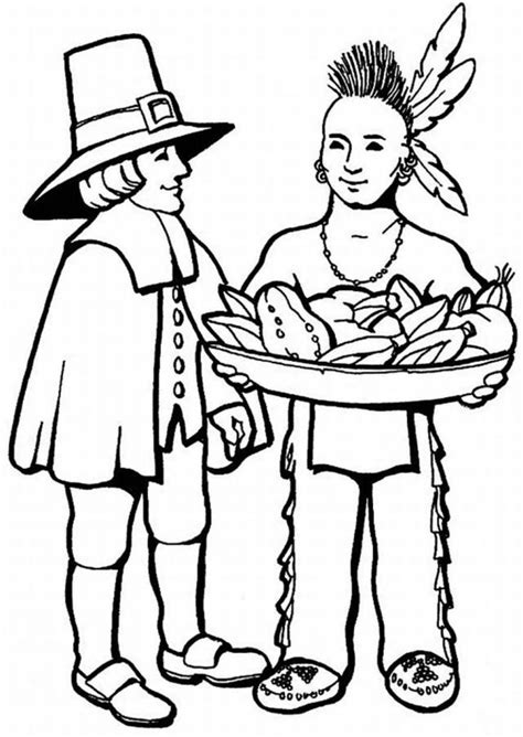 indian basket coloring page thanksgiving coloring pages for the kids az dibujos para