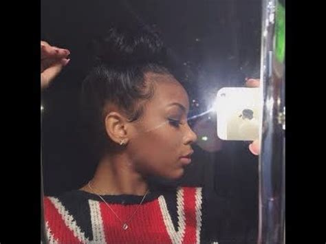 huge bun with baby edges how i do my bun tame my baby hair highly requested