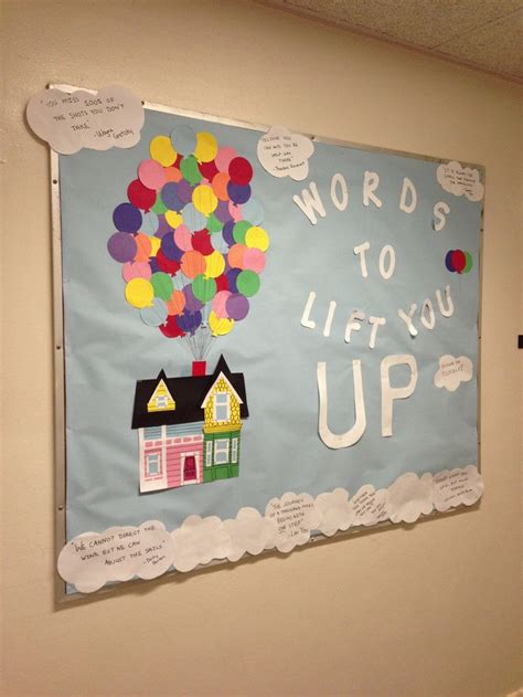 themes in the film up ra bulletin board pixar s up themed good bulletin board