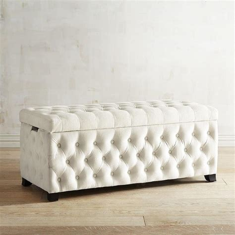 white tufted storage ottoman bench design inspiring storage bench tufted tufted