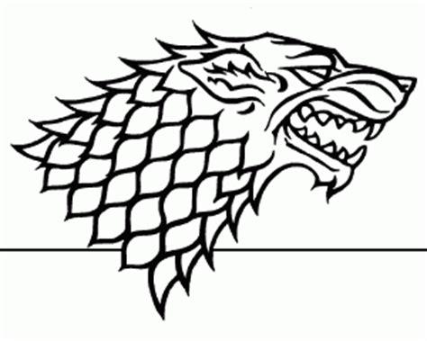 thrones coloring book stark house stark direwolf of thrones coloring book