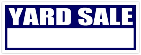 Garage Designer Tool yard sale sign blue blank garage sale signs