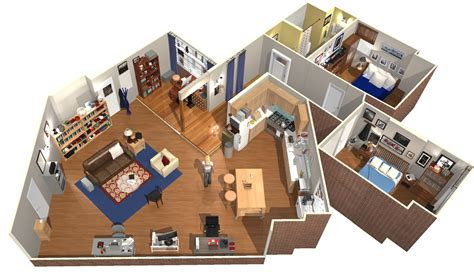 big bang theory floor plan the big bang theory apartment in 3d homebyme