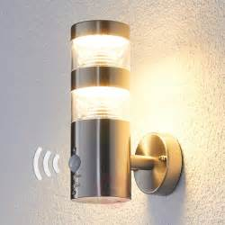 outdoor le mit bewegungsmelder led outdoor wall light lanea with motion sensor buy