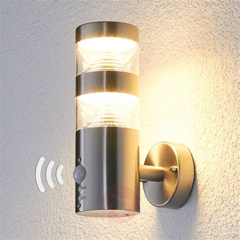 led outdoor wall light led outdoor wall light lanea with motion sensor lights co uk