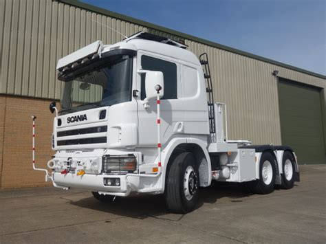 scania 124 lhd 6x4 heavy duty tractor unit for sale mod