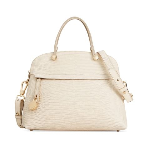 Furla Piper Dome Medium furla piper medium dome satchel in beige vanilla lyst