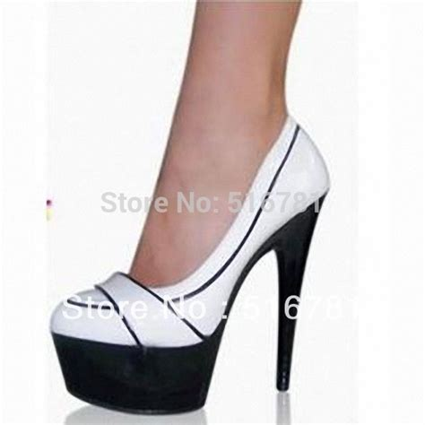 free shipping 6 inch white wedding wedges high heel shoes