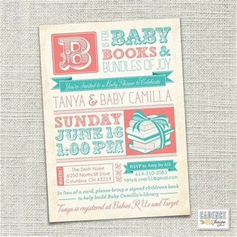 Books For Baby Shower by Book Shower Invitation Baby Shower Graphic Arts Juxtapost