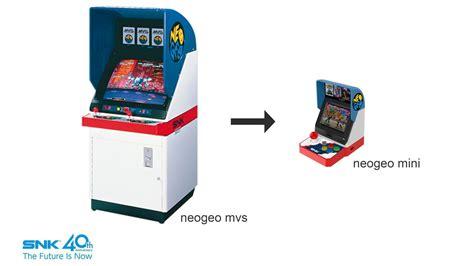 snk anuncia la neo geo mini una arcade en miniatura con