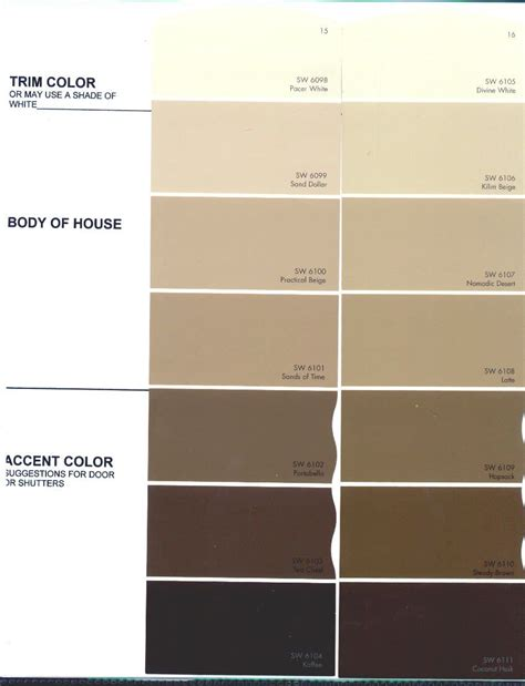 sherwin williams paint color chart beige color chart the preserve architectural review