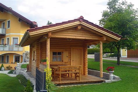 garten blockhaus gartenh 228 user aus rundholz in blockbauweise perr blockh 228 user