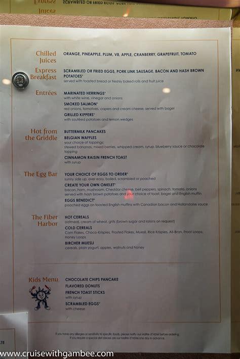 disney yacht club room service menu msc cruises divina menus cruise with gambee