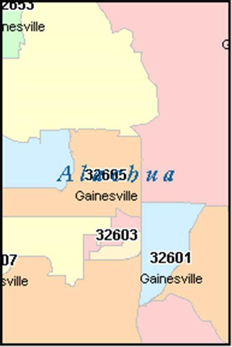 zip code map gainesville fl alachua county florida digital zip code map