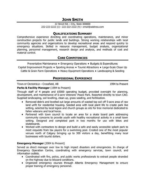 facilities coordinator description template click here to this parks and facility manager