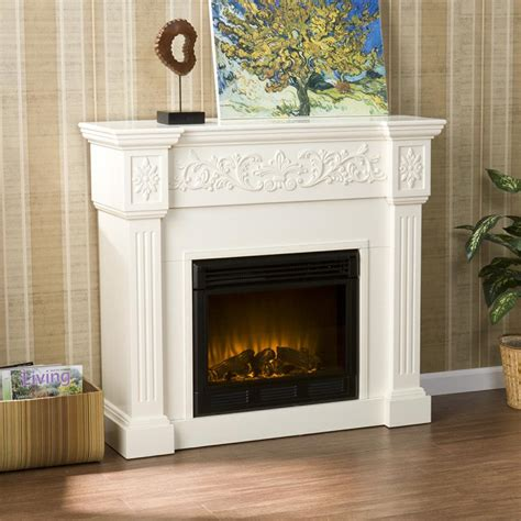 Ivory Electric Fireplace by Sei Calvert Electric Fireplace Ivory Gel
