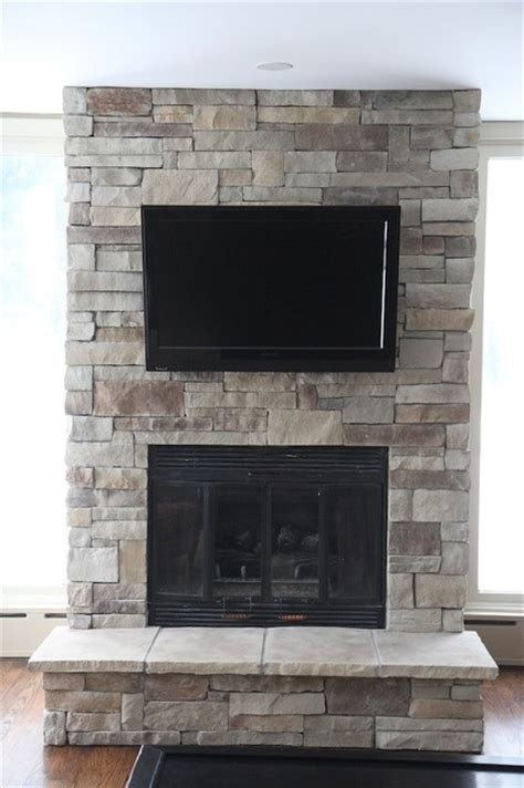 fireplace stone stone fireplaces and tvs traditional family room