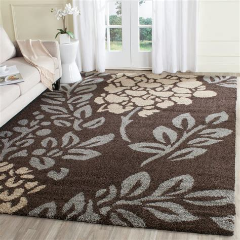 Brown And Gray Area Rug Safavieh Florida Shag Brown Gray 8 Ft X 10 Ft Area Rug Sg456 2880 8 The Home Depot