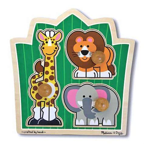 And Doug Jumbo Knob Puzzle by 13375 And Doug Jungle Friends Jumbo Knob Puzzle