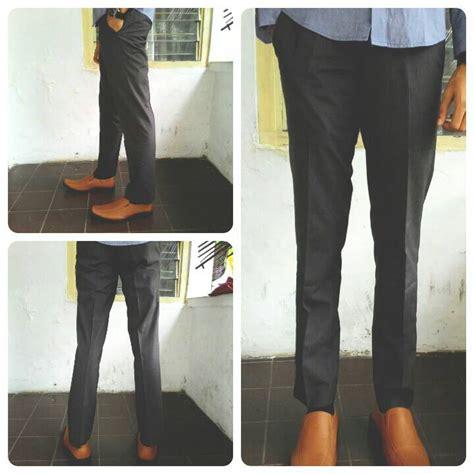 Celana Formal Pria Kerja Reguler Standar Slim Fit Panjang Hitam jual celana bahan kantor formal model slim fit reguler