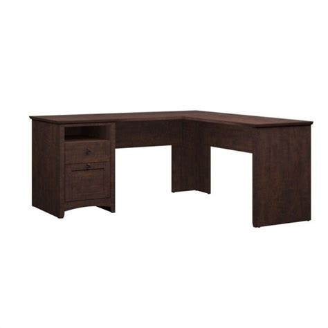 60 L Shaped Desk Bush Buena Vista 60 Quot L Shaped Desk In Cherry My13830 03
