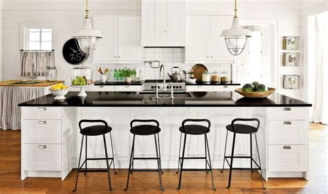 White Kitchen With Bar Stools by Black And White Bar Stools How To Choose And Use Them