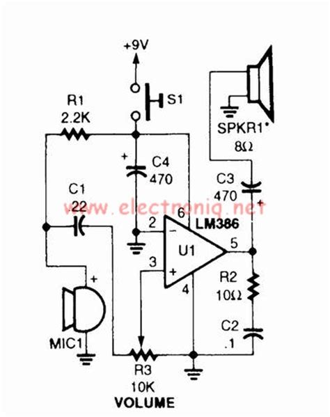 lm386 audio lifier for voice
