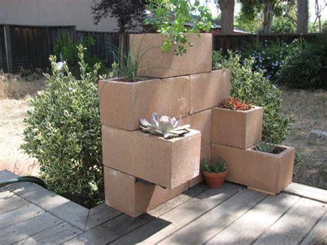 cinder block planter cinder block planter