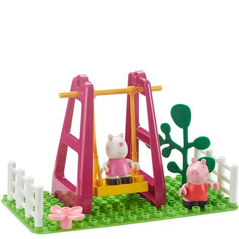 peppa pig swing peppa pig construction playground swing set iwoot