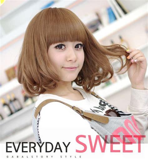 Wig Anak Made In Korea 6 harajuku anime bob wigs wavy drag wigs synthetic hair cheap