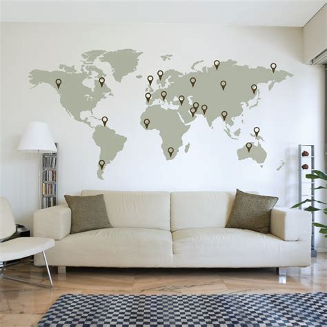 map wall decal world map wall sticker wallboss wallboss wall stickers