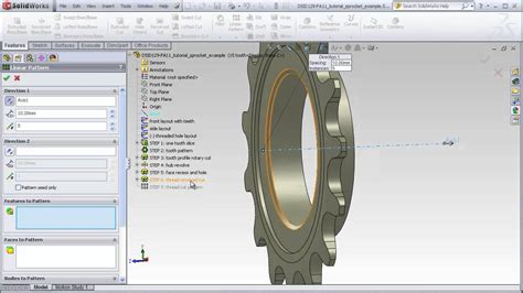 solidworks tutorial chain dsid129 solidworks tutorial bicycle sprocket youtube