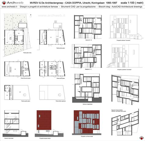 House Plan Drawings double house a utrecht dwg drawings
