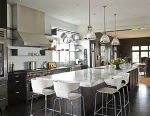 Long Kitchen Island Designs Long Kitchen Island Contemporary Kitchen Nb Design Group