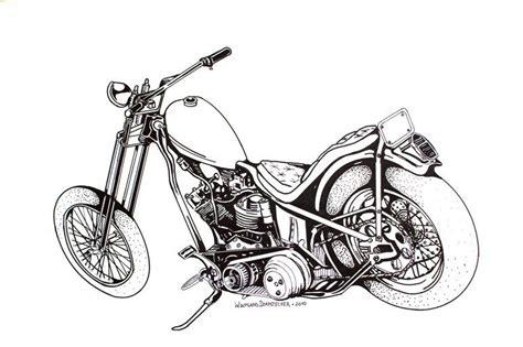 Motorrad Bilder Gemalt by Bywolle
