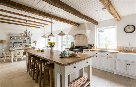 exposed ceiling beams in kitchen rattan bar stools home reclaimed wood beam kitchen farmhouse with traditional