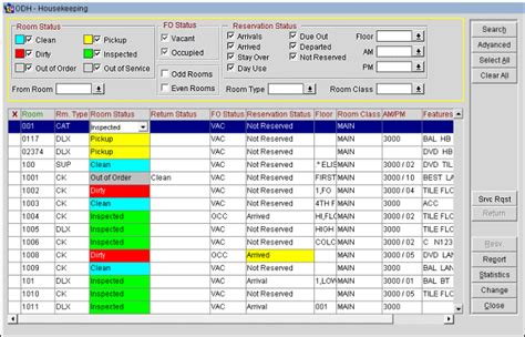 onq pms system for front desk housekeeping management