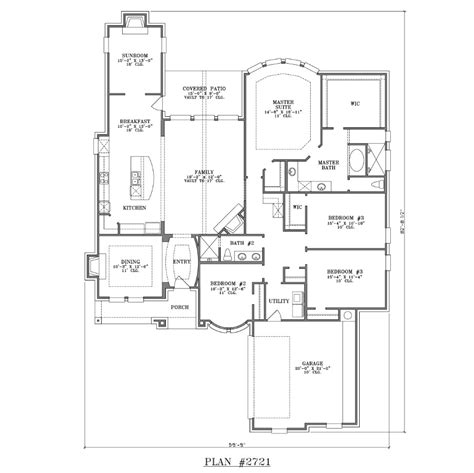 4 bedroom single story floor plans house plan 2721 web floor plans
